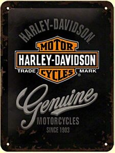 Harley-Davidson-Genuine-metal-sign-200mm-x-150mm-na