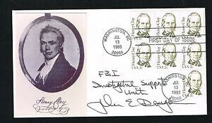 John-Edward-Douglas-signed-autograph-First-Day-Postal-Cover-FDC-Former-FBI-Agent