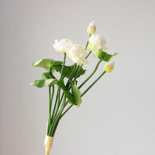 Künstlich Lotusblume Mini Tau Blume Kunstblume Kunststoff Deko Gartenparty Neu
