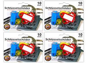 40x-Schluesselschilder-zum-beschriften-mit-Schluesselring-Schluesselanhaenger