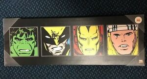 Details about Artissimo Marvel Retro Multi Panel Canvas Art Wall Sign 9 x  26