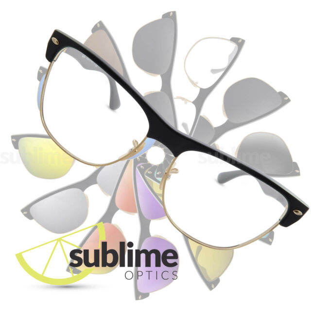 2db9b720154 UV400 Clear Replacement Lenses for Ray Ban Clubmaster Oversized RB4175 ~ UV