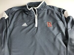 Adidas-ClimaLite-Jacket-Mens-Large-Long-Sleeve-1-4-Zip-Pullover-Letter-B-School