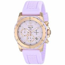 Bulova Women's 98M118 Marine Star Chronograph Purple Dial Purple Silicone Watch