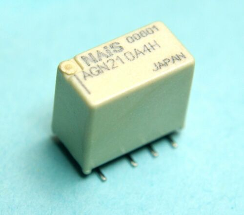 DPDT 1Amp 4.5VDC Latching SMT SMD General Use Relay 4pcs Panasonic AGN210A4H