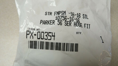 10756-16-16 SC-7306 **PACKAGE OF 2** PARKER 56 SERIES HOSE FITTING