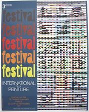 Yacoov Agam Plakat Orig. Serigrafie 3. Festival Peinture Cagnes-sur-mer 1971