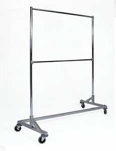 Kd 5 Silver Double Bar Commercial Grade Z Rack Clothing