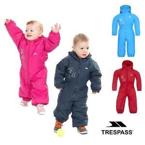 Trespass Babies Infants Dripdrop Padded Waterproof Outdoor Puddle Suit Rain Suit