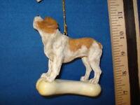 English Bulldog Ornament On Bone C3287 131