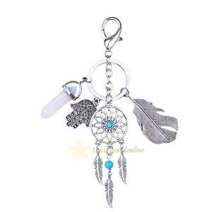 Fashion-Dream-Catcher-Feather-Charm-Keyring-Key-Chain-Ring-Keychain-Bag-Pendant