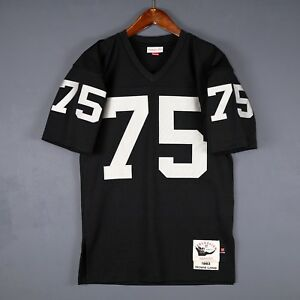 cheap for discount ab692 e9bf2 Details about 100% Authentic Howie Long Oakland Raiders Mitchell & Ness NFL  Jersey Size 36 S