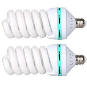 2X-150W-220V-5500K-E27-Video-Studio-Continuous-Light-Daylight-Bulb-Tricolor-Bulb