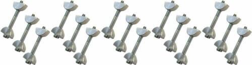 Unika Slimline Toggle Bolt Compact Laminate Kitchen Worktop Connecting Bolts x15