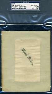 Hack-Wilson-PSA-DNA-Coa-Autograph-Hand-Signed-1930-s-Album-Page