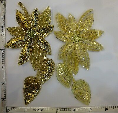 BOW MOTIF SEW ON CRAFT PATCH 1PC GLASS BEAD PLASTIC BEAD PATCH SEQUIN APPLIQUE