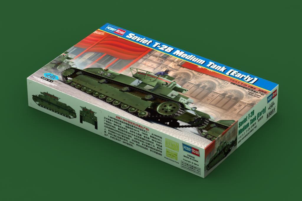 Hobbyboss 1 35 83851 Soviet T-28 Medium Tank Early Type