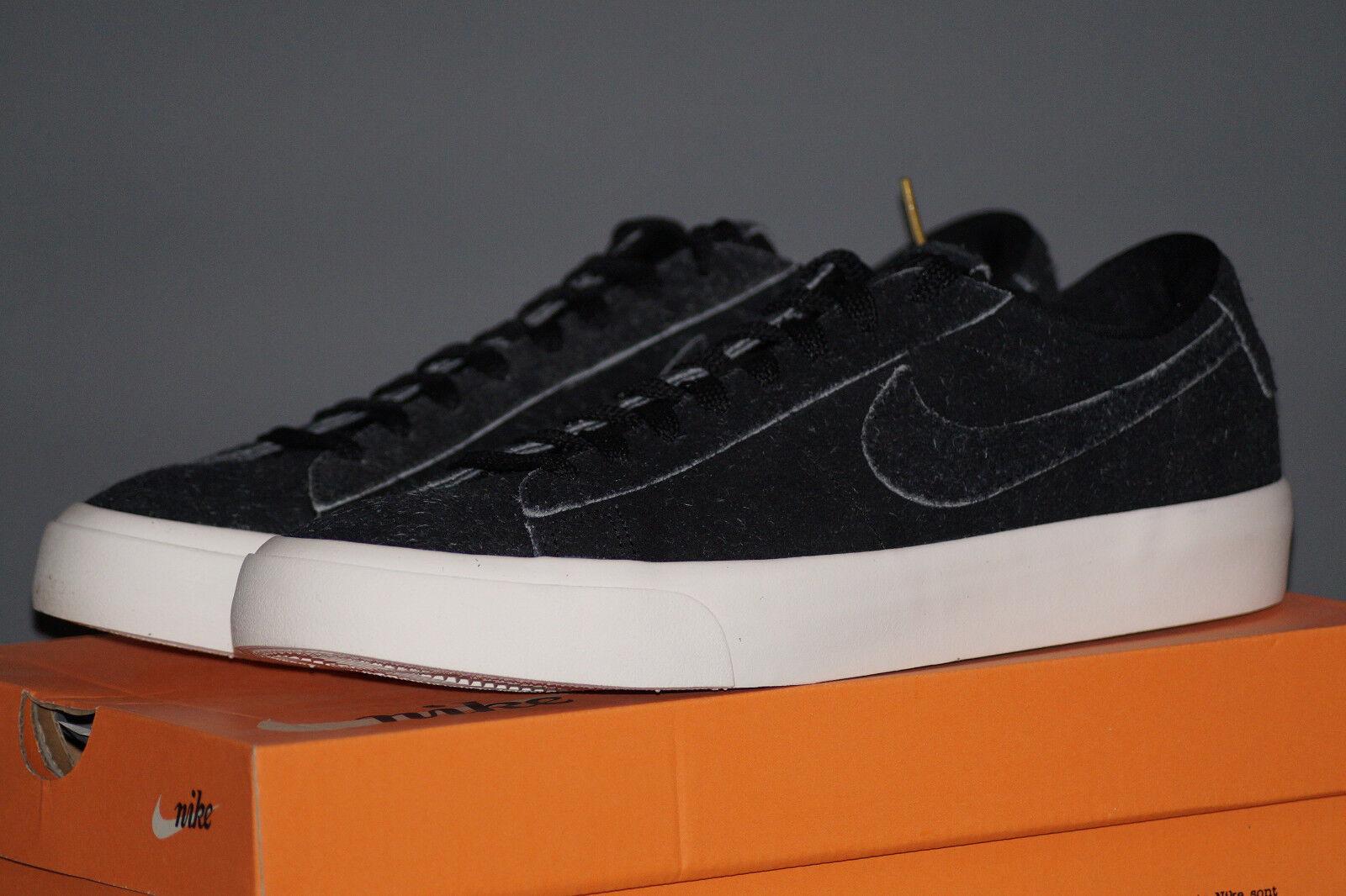 Nike Blazer Studio Low EU 45.5 UK 10.5 schwarz schwarz Leder 880872-002 Stilvoll und charmant