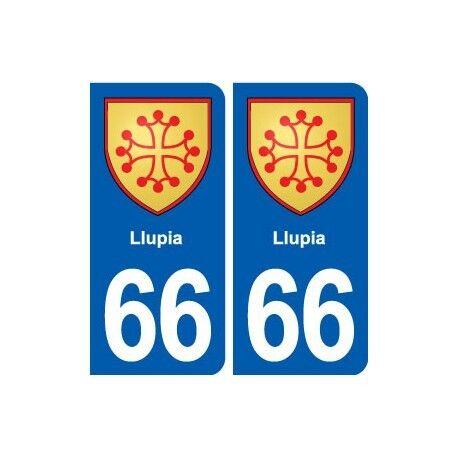 66 Llupia blason autocollant plaque stickers ville droits
