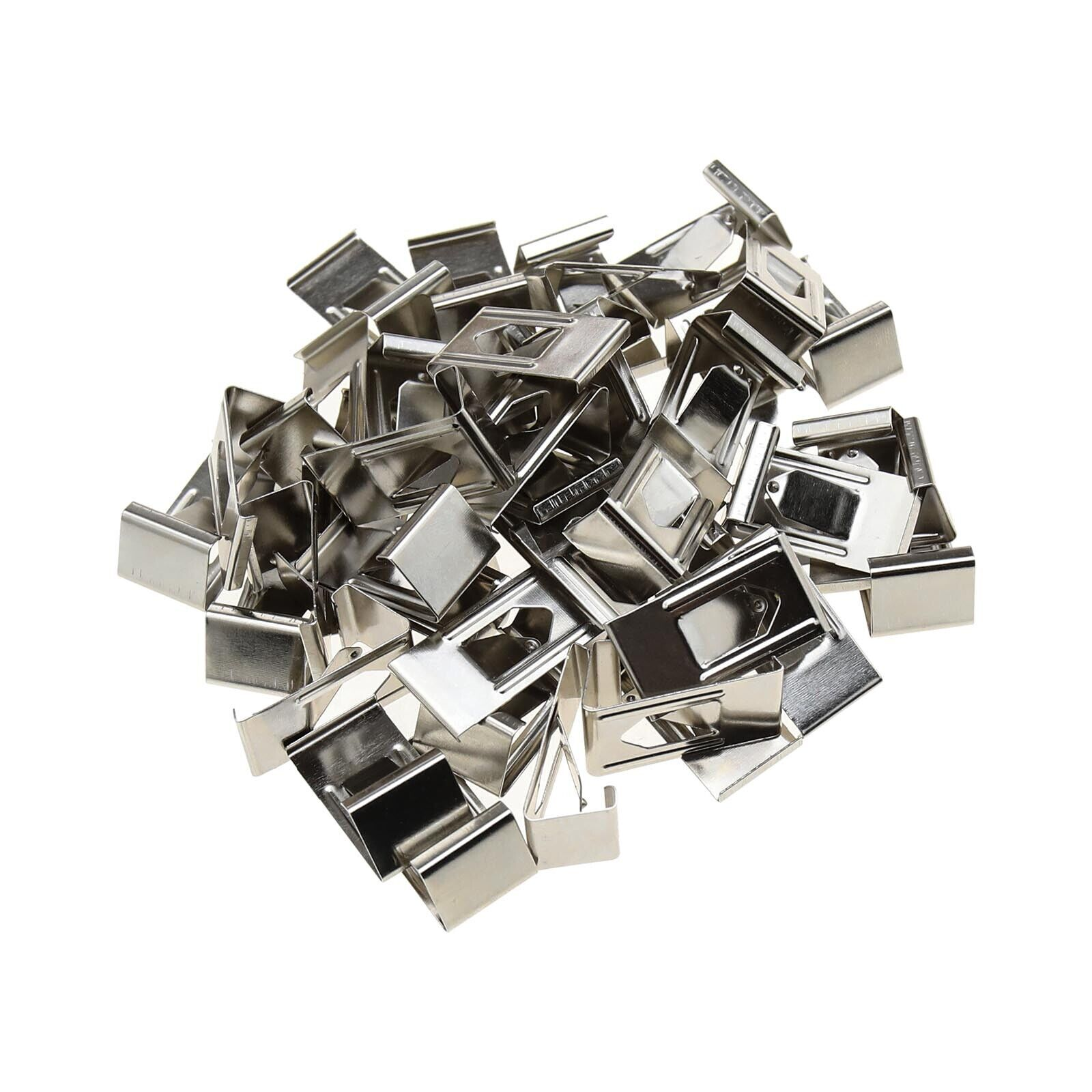 50Pcs/100Pcs Silver Spring Turn Clips Holders for 3D Printer Heated Bed Fixation