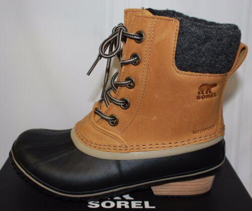 Sorel Women/'s Slimpack II 2 Boots Lace Elk Black Grey Waterproof New