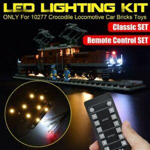 LED-Licht-Beleuchtung-Set-nur-Fuer-lego-10277-Krokodil-Lokomotive-Auto-Steine