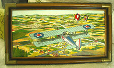 H. HARGROVE - 'B-7 AIRPLANE' - SERIGRAPH  VINTAGE PRINT ON CANVAS