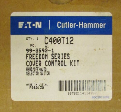 EATON CUTLER HAMMER C400T12 Cover Kit HAND OFF AUTO Selector Switch 99 3592 1