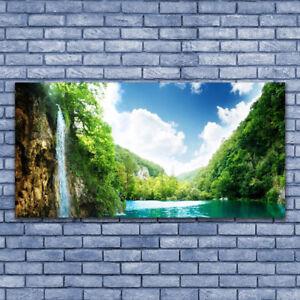 Wandbilder Glasbilder Druck auf Glas 140x70 Wald Natur