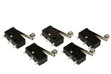 5 Pc Temco Micro Limit Switch Roller Arm Subminiature Spdt Snap Action Lot