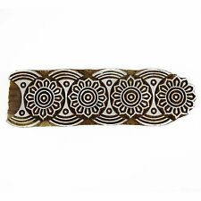 Floral Wood Stamp Handcarved Printing Block Wooden Texile Stamp Blockprint