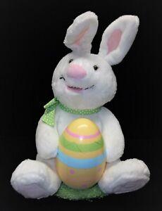 Hallmark Rockin' Rabbit White Easter Bunny Egg Chick Musical ANIMATED 11'' PLUSH