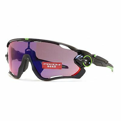 Oakley Jaw Breaker OO9290-10 Polished Black Shield Prizm Road Sunglasses