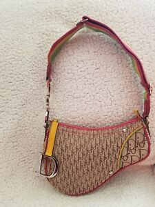 002a2418e195 Image is loading Authentic-Vintage-Christian-Dior-Rasta-Sadle-Bag