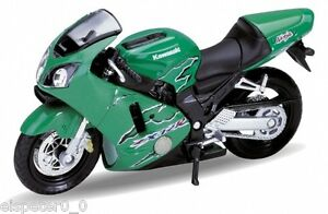 01-KAWASAKI-NINJA-zx-12r-Welly-Moto-Modelo-1-18-NUEVO-emb-orig