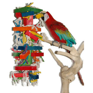 Parrot Toy Pet Bird Toy Paradise Wood and Sisal Giant