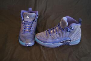 low priced f0d75 4f3be Nike Air Jordan Retro 12 kids size 4Y Royal Blue Suede 153265-400   eBay