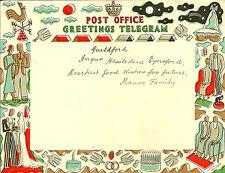 GREETINGS TELEGRAM : 1939 Post Office Greetings Telegram-used-HOLLAND