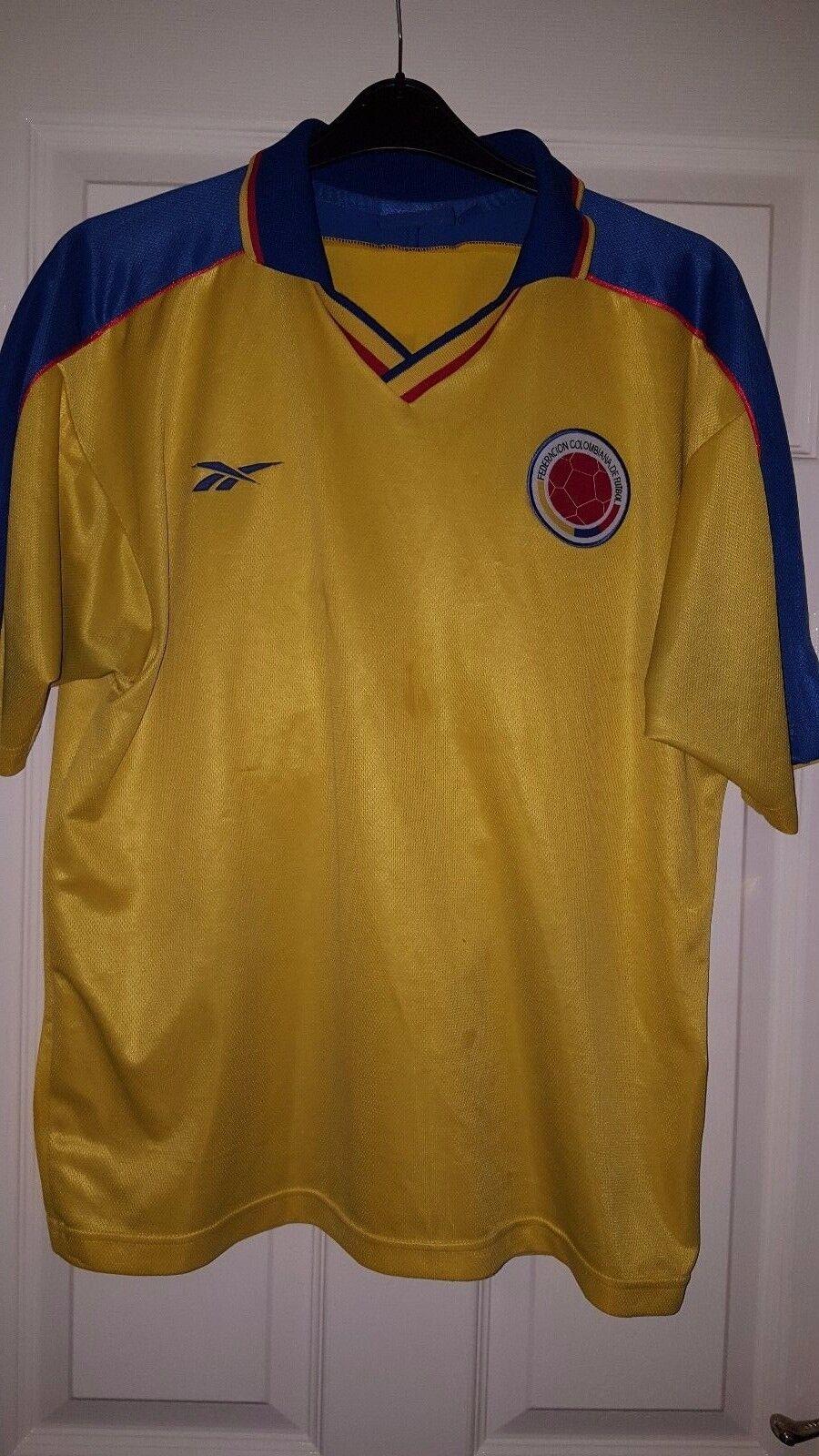 Camicia calcio da uomoCOLOMBIA SQUADRA NAZIONALEReebokHome 1998 TINO ASPRILLA