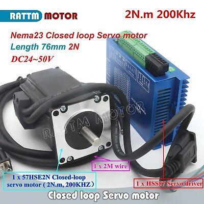 【IT】2 x Nema23 2N.m 76mm Closed Loop Servo Motor 3A Hybrid Driver Controller 6A