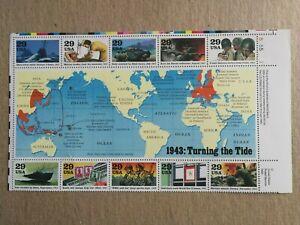 Sellos Estados Unidos. Hojita del año 1992. Nueva  MNH. 2ª guerra mundial.