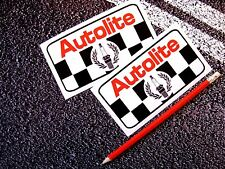 AUTOLITE Vintage style Spark Plug Stickers Classic Car F1 Lemans / Garage Decals