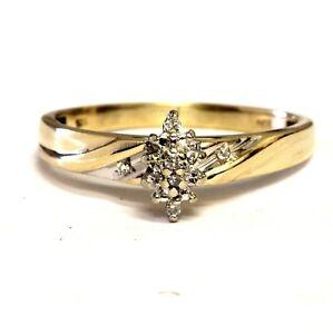 10k-yellow-gold-045ct-diamond-SI2-H-cluster-ring-vintage-estate-antique-2-3g