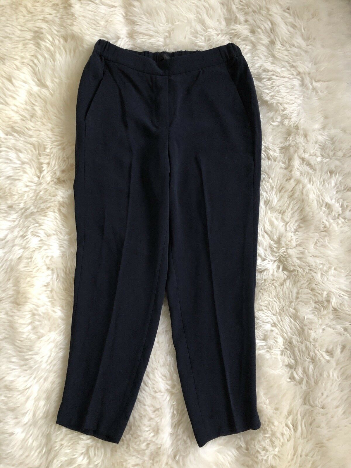NWT J. CREW EASY PANTS TROUSER E1756  NAVY DRESS CASUAL PANTS 4 NEW