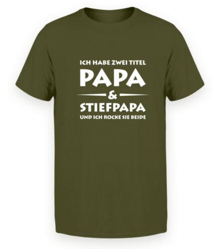 Papa /& stiefpapa Bio Coton-Messieurs Premium Organic Shirt