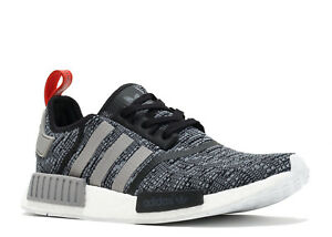 factory price e442e 6910a Image is loading Adidas-NMD-R1-Core-Black-Grey-Red-Glitch-