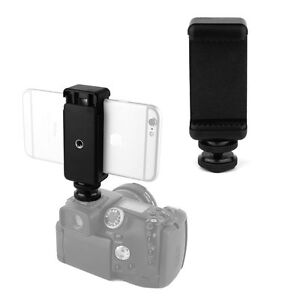 6184aa97ac Cell Phone Clip Holder + Hot Shoe Screw Adapter Tripod Mount for SLR ...