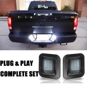 Details about Pair LED Car License Number Plate Lights for Dodge RAM 1500  2500 3500 2003-2018