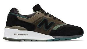 Details about New Balance Men's 997 Made in US Lifestyle Shoe M997PAA Black  with Covert Green
