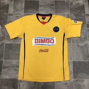 cheap for discount 6d65c 3bbc5 Details about Men's Vintage Authentic Sports Club America FC Bimbo Corona  Soccer Jersey Sz M